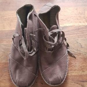 Toms Men's Shoes Brown Canvas Size 11